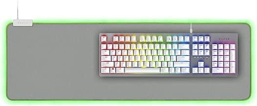 Razer Huntsman Gaming Keyboard + Goliathus Extended Chroma Mousepad Bundle: Mercury White