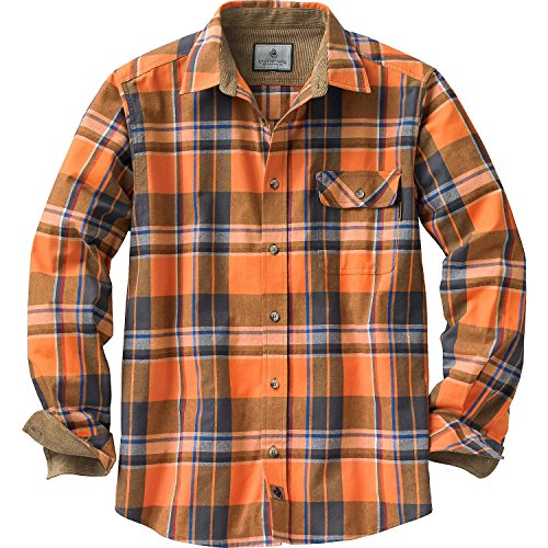 Legendary Whitetails Herren Buck Camp Flanellhemd, Herren, Langärmelig, Buck Camp Flannel Shirt, Canyon Plaid, Large