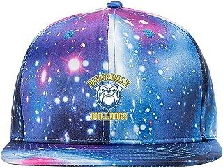 ETJIJCKDI Riverdale Bulldogs Purple Galaxy Snapback Hat Unisex Trucker Hat Hip Hop Plaid Flat Adjustable Baseball Hat