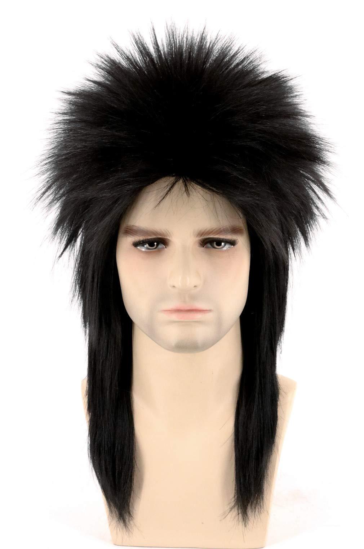 Rubies Costume Humor Black Mullet Shoulder Length Wig