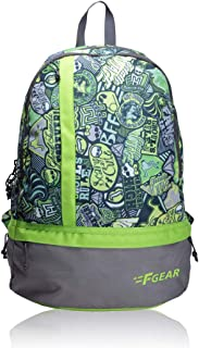 F Gear Burner P2 19 Ltrs Green Casual Backpack (1961)
