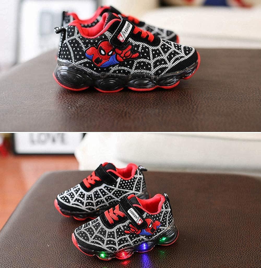 ROKIDS Kids Toddler Boys Spiderman Light Up Shoes Girls LED Sneaker