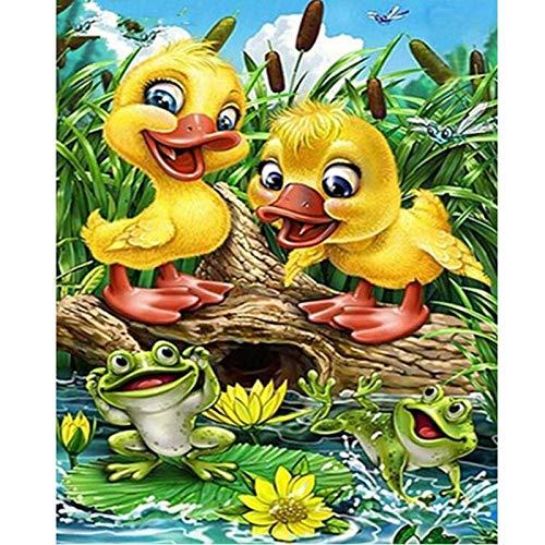 Puzzle 1000 piezas Regalo de la decoración de la rana del pato del arte de la imagen de la piscina puzzle 1000 piezas educa Rompecabezas de juguete de descompresión intelectua50x75cm(20x30inch)