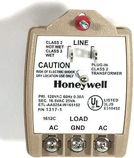 Honeywell 1317-1 Alarm Transformer, 16.5VAC 25VA, Good to Replace 1321-1