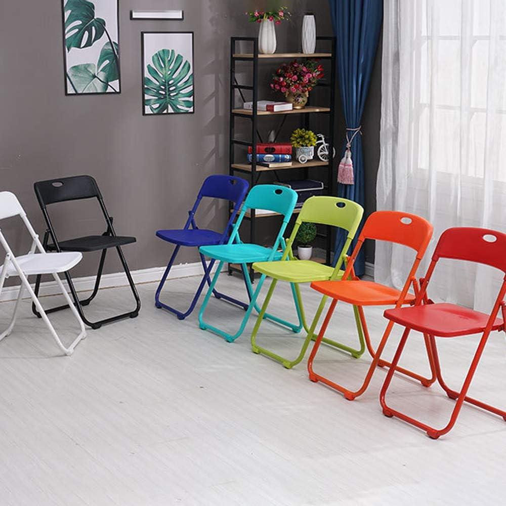 LPing Chaise de Cuisine,invité Chaise de Jardin,Chaise Pliante en Plastique,Peut être accroché Blue Purple