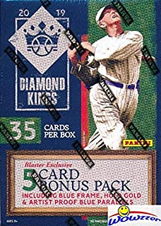 2019 Panini Diamond Kings Baseball Factory Sealed Retail Box with EXCLUSIVE Blue Frame, Artist Proof Blue & Holo Gold Parallels! Look for Autos of Vladimir Guerrero Jr, Vin Scully & More! WOWZZER!