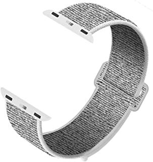 GZ GZHISY Newest Band Compatible with Apple Watch Band 38mm 42mm 40mm 44mm Soft Breathable Nylon Sport Loop Band Replacement Band Compatible for iWatch Series 4/3 /2/1
