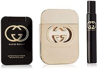 Gucci Guilty by Gucci for Women 3Piece Set Includes: 2.5 oz Eau de Toilette Spray + 3.3 oz Perfumed Body Lotion + 0.25 oz Eau de Toilette Fragrance Pen Spray