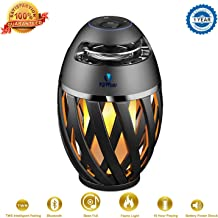 Wireless Outdoor Speaker, Viiwuu Led Flame Speakers Torch Atmosphere Bluetooth Speakers Outdoor Portable Stereo Speaker with HD Audio and Enhanced Bass Night Light Table Lamp BT 4.2 for iPhone Android