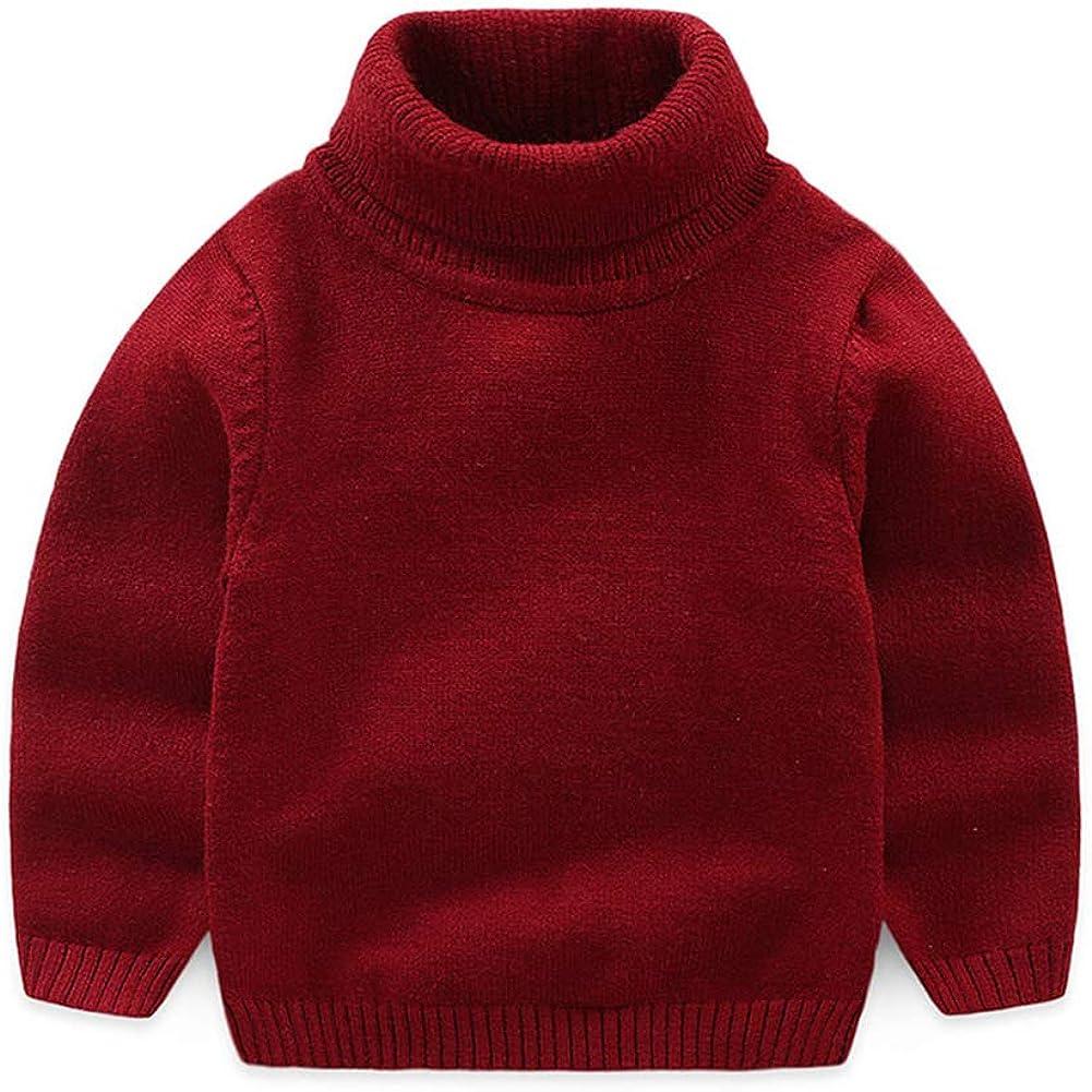 Mud Kingdom Toddler Boy Pullover Sweater Turtleneck Red 2T