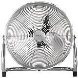 Sogo Ventilador Industrial Power fan de 110W, Diametro hélice de 18', 3 velocidades, Aspas de Aluminio - Cromado , Clase de Eficiencia Energética - A, Color: Plata.