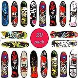 Vientiane Planches À roulettes De Doigt - 20PCS Mini Doigt De Skateboard pour Les Enfants Anniversaires, Cadeaux De Noël, Cadeaux,Récompenses pour Les Cours(Couleur Aléatoire)