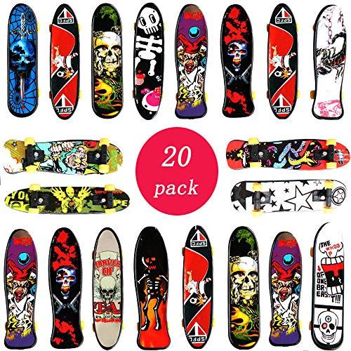 vientiane Fingerskateboard Set - 20PCS Fingerboard,Mini Skateboard Finger Für Kindergeburtstage,, Geschenke(Zufällige Farbe)