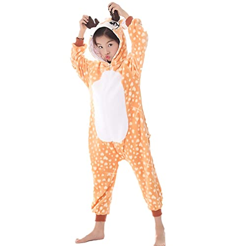 51783eaa4 Kids Fleece Onesie Unicorn Pajamas Animal Christmas Halloween Cosplay  Costume