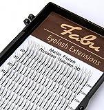 Fabu Eyelash Extensions Russian Volume 3D fans, Thickness/Diameter 0.10, D curl, one length per tray, 8mm | 9mm | 10mm | 11mm | 12mm | 13mm | 14mm | 15mm | 16mm (11mm)