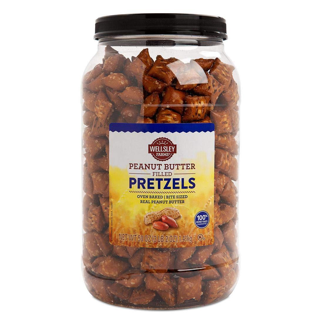 Tampa Mall Wellsley Farms Peanut Butter Ounce Filled 50 Denver Mall Pretzels