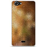 ONOZO Soft TPU Gel Case for Wiko Pulp Fab 4G Gold Leather
