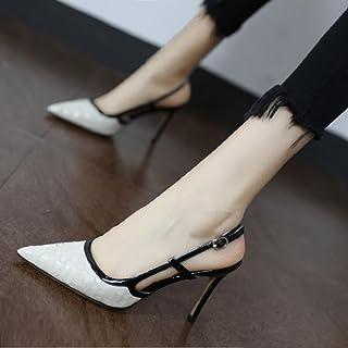 97933f0c079896 WCZ Mme Sandales Sexy Sauvages Pointues Chaussures à Talons Hauts Boucle  avec des Chaussures de Baotou