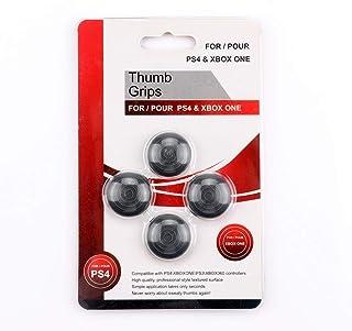4Pcs Controlador Thumb Grips Cap, Controlador de silicona Thumb Stick Grips Cap Cover Juego Accesorios Reemplazo para Xbox One / PS4 / XBOX 360 / PS3 (Negro)