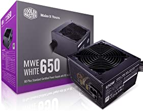 Cooler Master MWE 650 White 650W 80+ White PSU w/ Hydro-Dynamic-Bearing Silent 120mm Fan, Single +12V Rail, Flat Black Cables