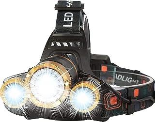 Cobiz Headlamp Flashlight USB Rechargeable - LED Brightest High 6000 Lumen Work Headlight,IPX4 Waterproof & 18650 Flashlig...