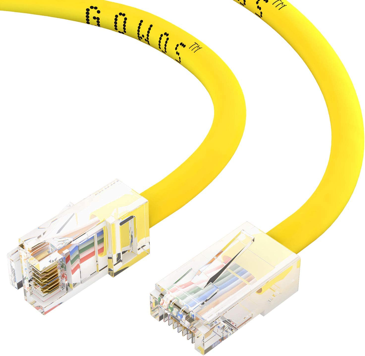 CABLECHOICE 10-Pack Cat5e Challenge the lowest price of Japan Ethernet Cable 5 ☆ popular Feet Yellow 7 - UTP