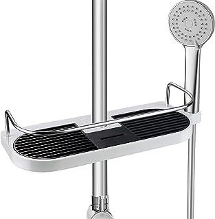シャワーラック HOMEASYシャワーフック 浴室ラック兼用 穴あけは必要なし 落ちない 錆びないラック 直径18mm〜25mmシャワー スライドバーのみに対応のシャワーフック(18mm)