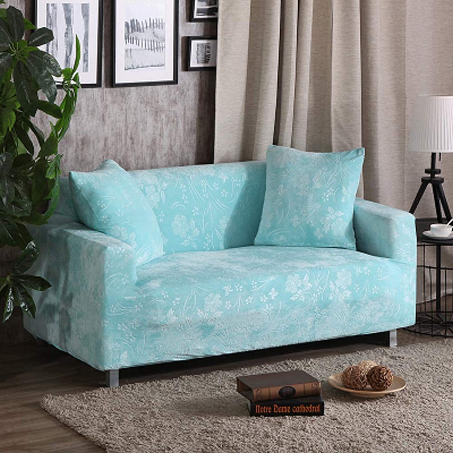 Sofa Furniture Predector for Pets Kids,High Elasticity Sofa slipcovers Thicken Non-Slip Couch Cover sectional Sofa Throw pad Sofa Throw Slip Cover-I 2 Seater(55  73inch)