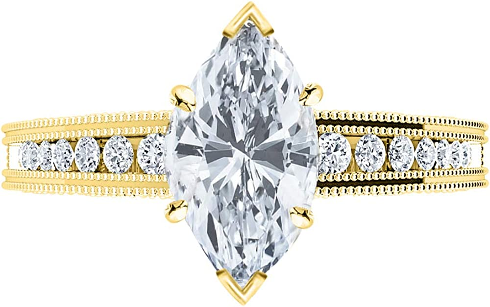 2.5 Ctw 14K White A surprise price is realized Gold Channel GIA Milgrain Ma Certified Easy-to-use Riviera