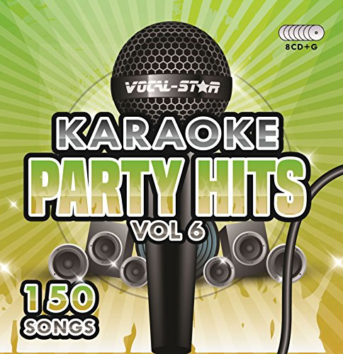 Karaoke Party Hits Vol 6 CDG CD+G Disc Set - 150 Songs on 8 Discs Including The Best Ever Karaoke Tracks Of All Time (Ed Sheeran ,Ariana Grande, Sia, John Legend, One Direction & much more