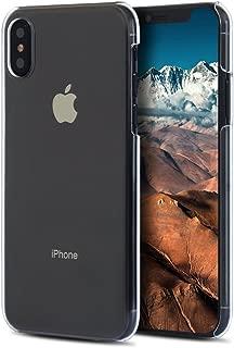 アイフォン XS ケース Apple iPhone XS カバー ハードケース スマホケース 液晶保護フィルム付 全機種対応 ☆透明 [Breeze-正規品] [IXS1000BA]