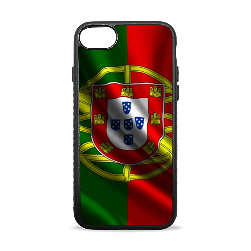 Apple Case Shockproof Slim TPU Protective Cover Portuguese Flag Soft Rubber Silicone Cover Phone Case Compatible with iPhone 7/8 iPhone 7/8 Plus [4.7 inch/5.5 inch]