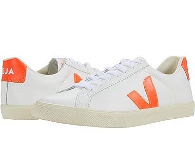 VEJA Esplar Logo (Leather Extra White/Orange/Fluo) Women