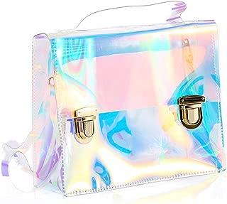 Holographic Transparent Bag Retro Hologram Clear Bag Shoulder Crossbody Purse