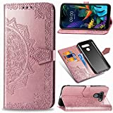 MRSTER LG Q60 Leather Case, Slim Premium PU Flip Wallet