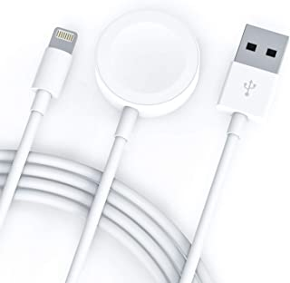Compatible with Apple Watch iWatch Charger, 2 in 1 Wireless Charger Cable for Apple Watch Series 4/3/2/1 and iPhone XR/XS/XS Max/X/8/8Plus/7/7Plus/6/6Plus