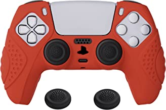 eXtremeRate Capa de silicone para controle PlayVital Guardian Edition Passion Red ergonômica macia antiderrapante para Pla...