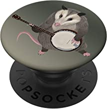 Opossum playing the banjo - possum PopSockets PopGrip: Swappable Grip for Phones & Tablets