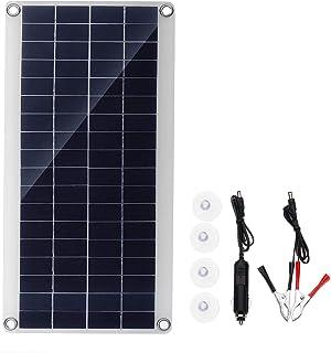 Candybarbar Generador de energ/ía de Almacenamiento de Panel Solar de tama/ño port/átil Generador de Sistema de energ/ía para Acampar en casa al Aire Libre para Bombillas LED