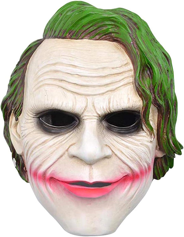 AKMQBZ Resin Horror Clown Male Smile Mask, Halloween Party, Adult (28  21  12cm)