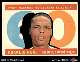 1960 Topps # 556 All-Star Charlie Neal Los Angeles Dodgers (Baseball Card) Dean's Cards 3 - VG Dodgers