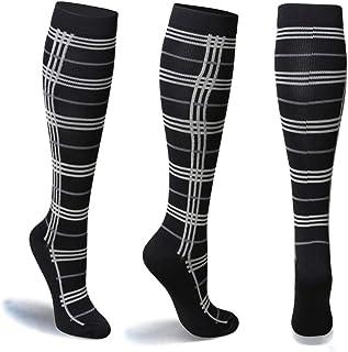 Los calcetines de compresión para hombres y mujeres viajes en avión y deportes de embarazadas para una resistencia mejorada de las mujeres embarazadas(S/M)(15-20 mmHg)