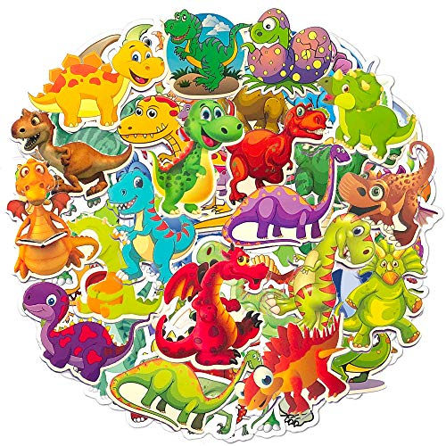 Jackify Aufkleber Pack [50 Stück] Dinosaurier Graffiti Sticker Decals Vinyls für Kinder, Autos, Motorrad, Fahrrad, Skateboard Gepäck, Bumper Stickers