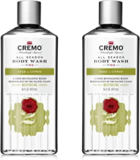 Cremo Rich-Lathering Sage & Citrus Body Wash, A Revitalizing Combination of Bright Mandarin, Dry Herbs and White Cedar, 16...
