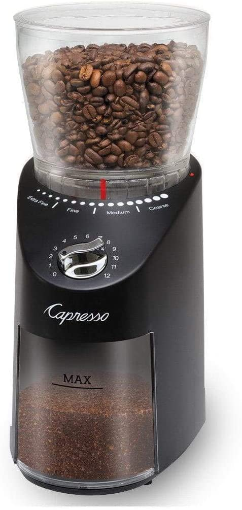 Capresso Infinity New color Plus Commercial Houston Mall Burr Grinder