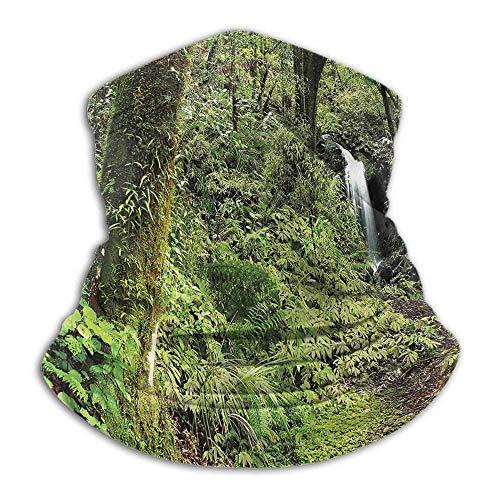 Halswärmer Wald kaltes Wetter Gesicht Motorrad Schal Wasserfall im tiefen Wald