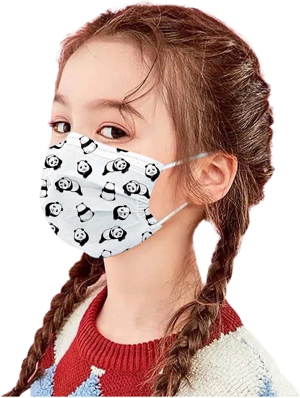 Don't miss the campaign 20PCS Children Kids Disposable_Face_Mask Panda Layer mart 3 Print Cut