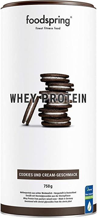 Foodspring - whey protein biscotti e crema - 750 g - 80% di proteine del siero del latte B07V3CN516