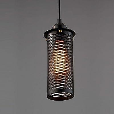 luz Araña Malla metálica Decorativa Jaula de pájaros Iluminación ...