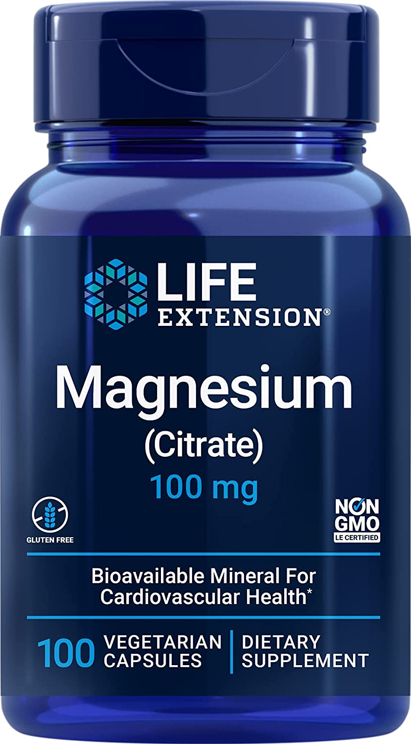 Life Extension Magnesium 40% OFF Cheap Sale Citrate Complete Free Shipping 100 Blu Capsules Vegetarian mg